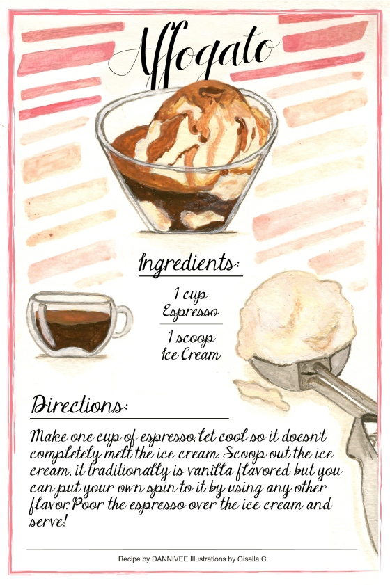 Affogato Recipe Card